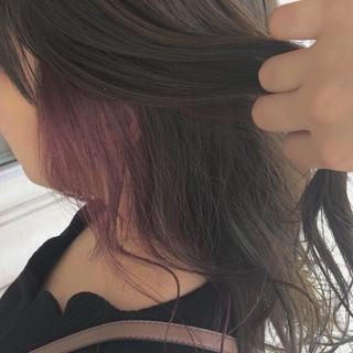 ピンクベージュ ヘアアレンジ ハイライト ロング ヘアスタイルや髪型の写真・画像