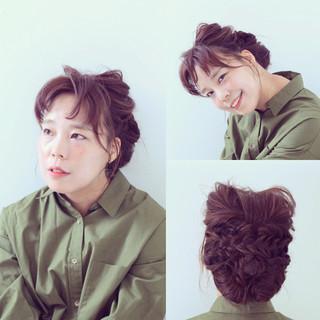 猫耳 三つ編み ルーズ 編み込み ヘアスタイルや髪型の写真・画像