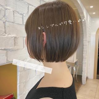 ショートヘア ナチュラル 丸みショート デート ヘアスタイルや髪型の写真・画像