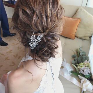 結婚式 ナチュラル 大人女子 パーティ ヘアスタイルや髪型の写真・画像 ヘアスタイルや髪型の写真・画像