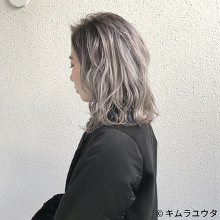 モード 外国人風 ブリーチ ホワイト ヘアスタイルや髪型の写真・画像