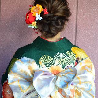 セミロング 結婚式 ナチュラル 簡単ヘアアレンジ ヘアスタイルや髪型の写真・画像 ヘアスタイルや髪型の写真・画像