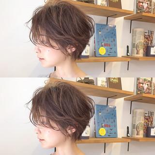 ショート ナチュラル リラックス ショートボブ ヘアスタイルや髪型の写真・画像