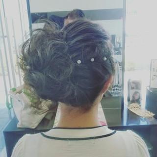 パーティ 結婚式 ヘアアレンジ フェミニン ヘアスタイルや髪型の写真・画像 ヘアスタイルや髪型の写真・画像