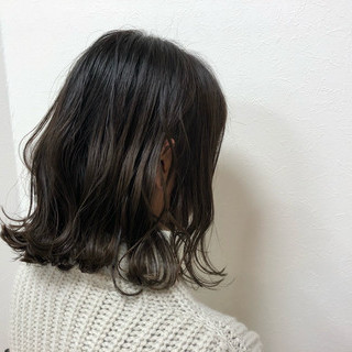 ヘアアレンジ 外国人風 波ウェーブ ミディアム ヘアスタイルや髪型の写真・画像