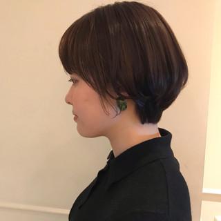 ショートマッシュ ショートボブ 大人かわいい アンニュイほつれヘア ヘアスタイルや髪型の写真・画像
