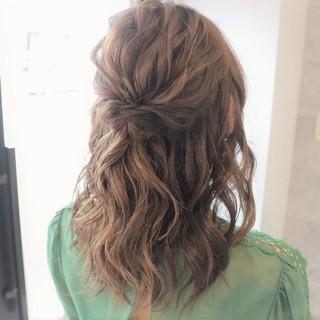 ヘアアレンジ 上品 セミロング 簡単ヘアアレンジ ヘアスタイルや髪型の写真・画像 ヘアスタイルや髪型の写真・画像