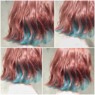 フェミニン ボブ ゆるふわ ハイライト ヘアスタイルや髪型の写真・画像