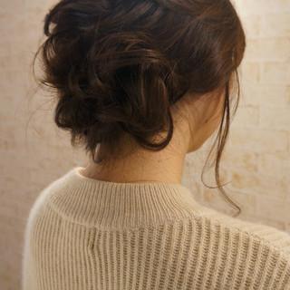 ヘアアレンジ ねじり ロング ゆるふわ ヘアスタイルや髪型の写真・画像 ヘアスタイルや髪型の写真・画像