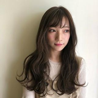 ロング デート ガーリー 秋 ヘアスタイルや髪型の写真・画像
