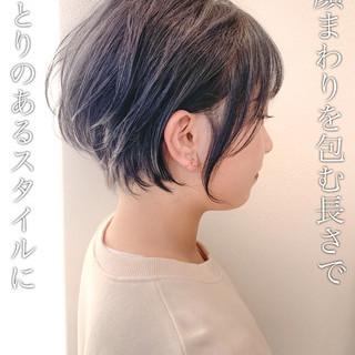 ショートボブ ミニボブ ナチュラル ショート ヘアスタイルや髪型の写真・画像