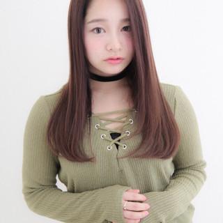 透明感 かわいい ストレート ナチュラル ヘアスタイルや髪型の写真・画像 ヘアスタイルや髪型の写真・画像