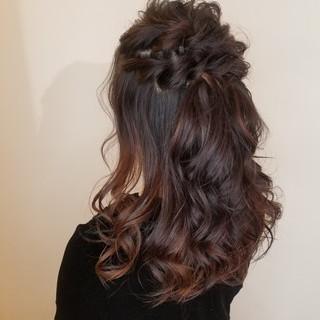 簡単ヘアアレンジ ロング ヘアアレンジ エレガント ヘアスタイルや髪型の写真・画像