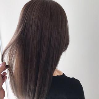 外国人風カラー ストレート デート ヘアアレンジ ヘアスタイルや髪型の写真・画像