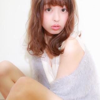 ミディアム モテ髪 おフェロ セミロング ヘアスタイルや髪型の写真・画像