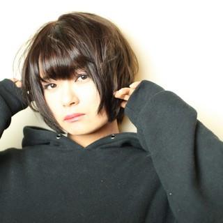 ストリート 黒髪 ロック セクシー ヘアスタイルや髪型の写真・画像