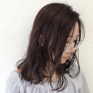 外国人風 パープル アッシュ 大人女子 ヘアスタイルや髪型の写真・画像