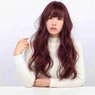 アッシュ 前髪あり ロング ミルクティー ヘアスタイルや髪型の写真・画像