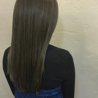 アッシュ ナチュラル アッシュグレージュ ロング ヘアスタイルや髪型の写真・画像