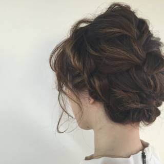 ナチュラル ハイライト ブライダル ヘアアレンジ ヘアスタイルや髪型の写真・画像
