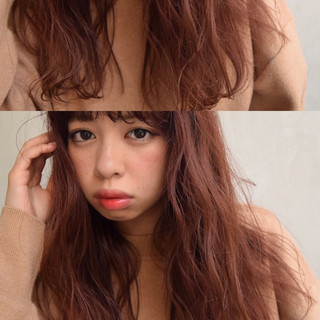 ゆるふわ ガーリー ロング フェミニン ヘアスタイルや髪型の写真・画像
