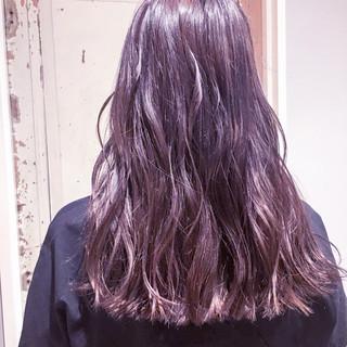ラベンダーピンク 外国人風カラー グレージュ ラベンダーアッシュ ヘアスタイルや髪型の写真・画像