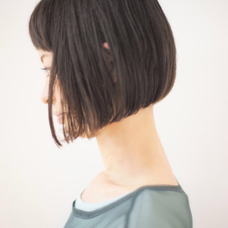 ミニボブ オフィス ショートボブ デート ヘアスタイルや髪型の写真・画像