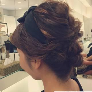大人かわいい ヘアアレンジ ミディアム ガーリー ヘアスタイルや髪型の写真・画像