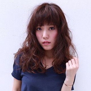 フェミニン 抜け感 セミロング 大人女子 ヘアスタイルや髪型の写真・画像
