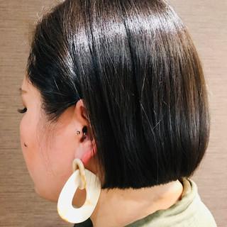ナチュラル ボブ ヘアスタイルや髪型の写真・画像 ヘアスタイルや髪型の写真・画像