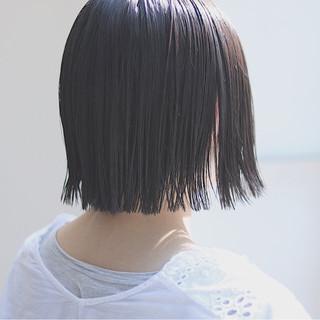切りっぱなし 色気 イルミナカラー デート ヘアスタイルや髪型の写真・画像