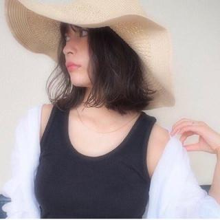 ミディアム 可愛い 大人カジュアル ヘアスタイルや髪型の写真・画像