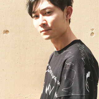 黒髪 ナチュラル メンズ ショート ヘアスタイルや髪型の写真・画像