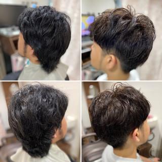 ベリーショート メンズヘア ストリート メンズパーマ ヘアスタイルや髪型の写真・画像
