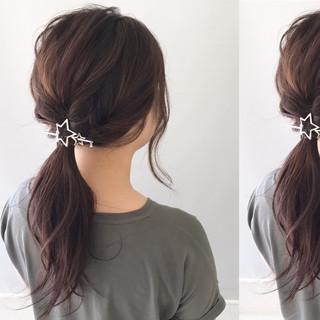 秋 透明感 デート 簡単ヘアアレンジ ヘアスタイルや髪型の写真・画像