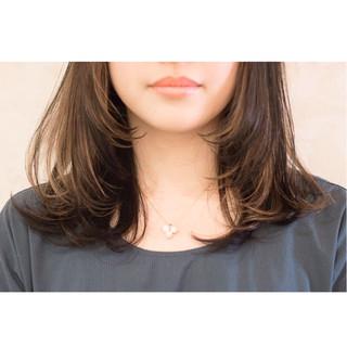 ブリーチ ダブルカラー セミロング イルミナカラー ヘアスタイルや髪型の写真・画像