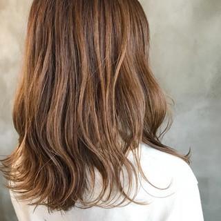 オレンジベージュ ベージュ 抜け感 ブラウンベージュ ヘアスタイルや髪型の写真・画像