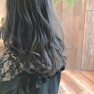 セミロング ゆるふわ ガーリー グレージュ ヘアスタイルや髪型の写真・画像 ヘアスタイルや髪型の写真・画像