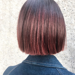 ハイライト 外国人風カラー レッド ダブルカラー ヘアスタイルや髪型の写真・画像