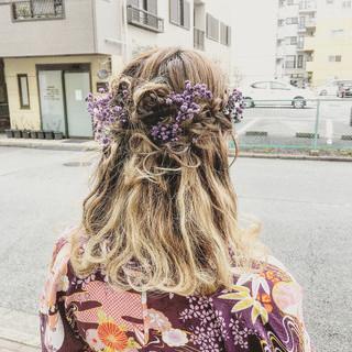 ふわふわヘアアレンジ 卒業式 ヘアアレンジ フェミニン ヘアスタイルや髪型の写真・画像