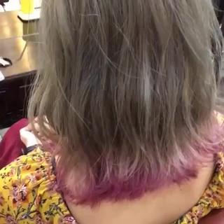 波ウェーブ ミディアム ハロウィン 冬 ヘアスタイルや髪型の写真・画像