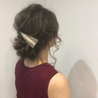 成人式 アップスタイル ミディアム フェミニン ヘアスタイルや髪型の写真・画像