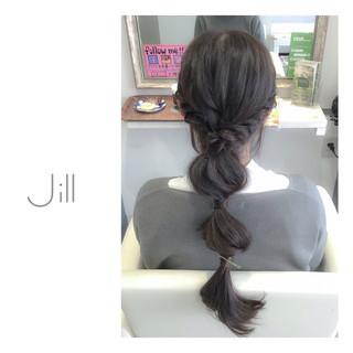 ヘアアクセ ロング ヘアアレンジ 簡単ヘアアレンジ ヘアスタイルや髪型の写真・画像