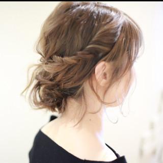 ハーフアップ グラデーションカラー 大人女子 ボブ ヘアスタイルや髪型の写真・画像 ヘアスタイルや髪型の写真・画像