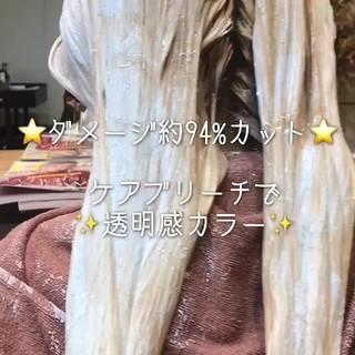 アンニュイほつれヘア ナチュラル 結婚式 ブリーチ ヘアスタイルや髪型の写真・画像