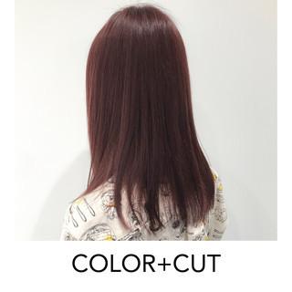 ナチュラル ピンク ナチュラル可愛い ベリーピンク ヘアスタイルや髪型の写真・画像