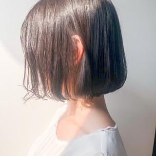 ミニボブ 切りっぱなしボブ ショートボブ デジタルパーマ ヘアスタイルや髪型の写真・画像