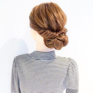 ヘアアレンジ ロング アウトドア エレガント ヘアスタイルや髪型の写真・画像