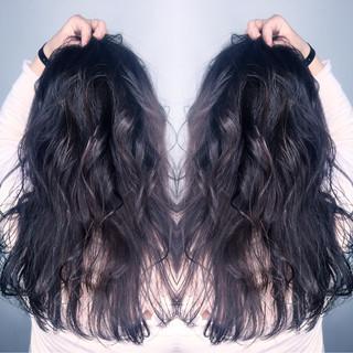 上品 黒髪 ニュアンス ロング ヘアスタイルや髪型の写真・画像 ヘアスタイルや髪型の写真・画像