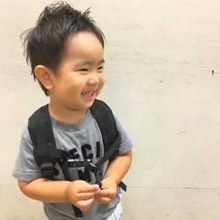 子供 前髪あり ピュア ウェットヘア ヘアスタイルや髪型の写真・画像
